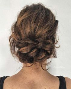 21 Beautiful Braided Updo Ideas for the Holidays - Hair - Hochzeitsfrisuren-braided wedding updo-Wedding Hairstyles Messy Wedding Hair, Wedding Hair And Makeup, Curly Hair Styles, Natural Hair Styles, Braids For Short Hair, Wavy Hair, Box Braids Hairstyles, Prom Hairstyles, Teenage Hairstyles