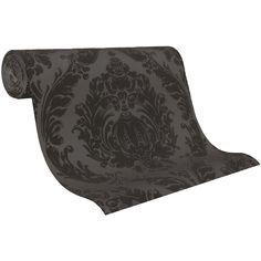 Tapete LABYRINTH Crash Design Vliestapete 03926-30 Barock grau schwarz