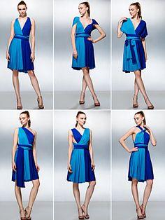 Dress - Multi-color A-line Knee-length Knit | LightInTheBox