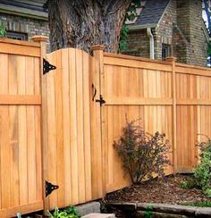 Cedar is the preferred wood for fence-building, because of its resistance to rot and insects. (In some regions, redwood is the top choice.) Both species may be left to weather naturally, but every few years, its wise to coat natural wood with a clear preservative.