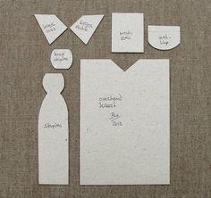 Shirt and Tie Cards (+ TUTORIAL) - PAPER CRAFTS, SCRAPBOOKING ATCs (ARTIST TRADING CARDS)