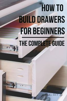 tips and tricks! Perfect guide for a beginner! How to build drawers for a beginner! They are not that hard!Great tips and tricks! Perfect guide for a beginner! How to build drawers for a beginner! They are not that hard! Learn Woodworking, Popular Woodworking, Woodworking Projects Diy, Woodworking Furniture, Diy Wood Projects, Furniture Plans, Woodworking Plans, Woodworking Magazines, Wood Furniture