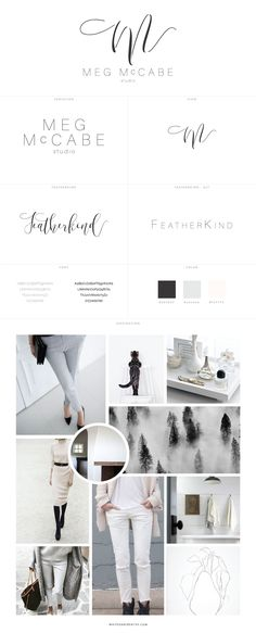 Brand Identity and Logo Design for Meg McCabe Studio, branding, web design, wordpress