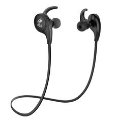 SoundPEATS Bluetooth Headphones Sport Wireless Sweatproof Earphones APTX Bluetooth 4.1 for Running with Mic CVC 6.0 Noise Cancelling-Black