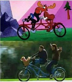 Moose and squirrel. Sam and Dean.