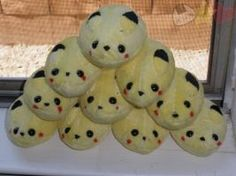 Pikachu Mochi Plushies by LiLMoon