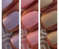Purple Nails (Models Own - Lilic) vs. Pink Nails (Models Own - Pastel Pink) vs. Browny Grey Nails (Models Own - Soft Brown)