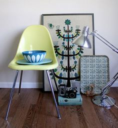 Mid Century Modern in Blue by Smile and Wave Rachel Denbow