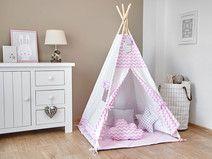 Tipi - Namiot dla Dzieci - Różowy Zyg-Zag