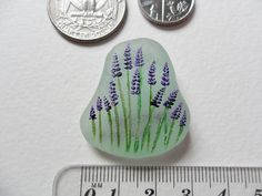 Sea glass miniature paintings - Flowers - Beautifully frosted English sea glass | eBay