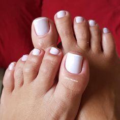 Combinações para unhas francesinhas, veja os esmaltes usados pelas manicures Gorgeous Feet, Most Beautiful, Manicures, Nails, Beauty Make Up, Nail Art, Makeup, Pretty, How To Make