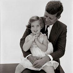 JFK & Caroline ~ 1961 - @classiquecom