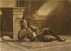 Mr Henry Holden as Will Somers, the first Queen Elizabeth's court jester  ; the Duchess of Devonshire's Jubilee Costume Ball of 1897