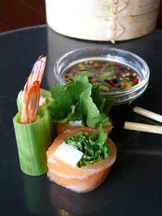 NO RICE Sushi!! #health ROCK SUSHI THAI Best Thai cuisine and sushi in Cape Town facebook.com/ROCK-SUSHI-THAI/ Best Thai, Thai Recipes, Cape Town, Cantaloupe, Sushi, Rice, Facebook, Fruit, Health