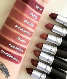 52 Amazing mac lipstick shades that you should own - cremesheen, mattes ,retro matte ,nude mac lipstick - Makeup Tips Makeup Forever Powder, Makeup Forever Lipstick, Makeup Forever Foundation, Lipstick For Fair Skin, Makeup Lipstick, Eye Makeup, Mac Matte Foundation, Brown Lipstick Shades, Mac Lipstick Colors