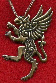 gryphon necklace or pin - craft celts