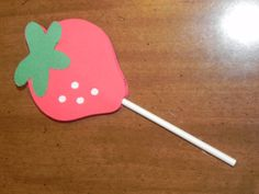 Strawberry Cupcake Toppers - Set of 12 - Strawberry Shortcake Birthday Party
