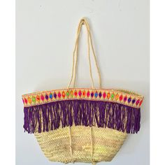 0 Purple Bags, Summer Bags, Straw Bag, Shoe Bag, Awesome, Polyvore, Stuff To Buy, Accessories, Design