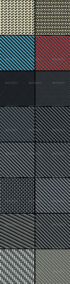 Carbon, Kevlar and Decorative Fabric  Set Four — Vector EPS #seamless #composites • Available here → https://graphicriver.net/item/carbon-kevlar-and-decorative-fabric-set-four/2924933?ref=pxcr