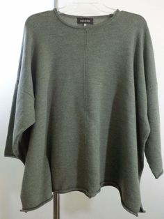 Eskandar sweater lagenlook top artsy art to wear olive artist UK designer OS New #Eskandar #BoatNeck