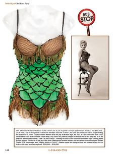 """Iconic green and black-sequined leotard worn by Marilyn Monroe as """"Cherie"""" in Bus Stop (1956)"""