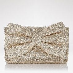 Make a glittery gold Betsey Johnson-inspired bow clutch! #craftgawker