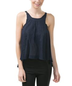 This Navy Embroidered Camisole by CQ is perfect! #zulilyfinds
