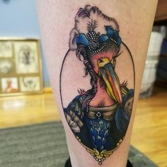 Awesome pelican tattoo and placement cute pinterest for Best tattoo shop in pittsburgh