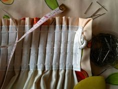 How to Sew Curtains (October Straight Stitch, Back Stitch, Curtain Rods, Rideaux Design, No Sew Curtains, Beautiful Curtains, Fabric Scissors, Motif Floral, Diy