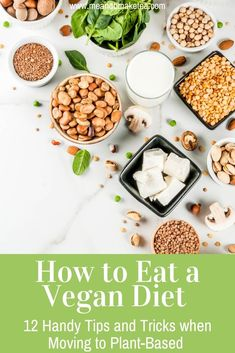 How to become vegan - tips and tricks for moving to a plant-based diet or simply eating less meat! Find out how to make sure you're getting enough protein and B12 and what we did to ensure a healthy move to a vegan diet! #vegan #plantbased #plantbaseddiet #health Vegan Vegetarian, Vegetarian Recipes, Healthy Recipes, Easy Dinner Recipes, New Recipes, How To Become Vegan, How To Eat Less, Plant Based Diet, Meal Planning