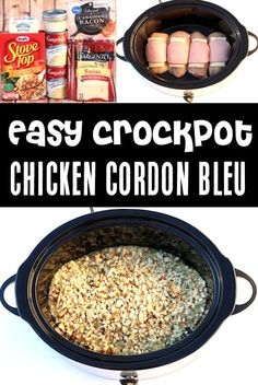 Crockpot Chicken Recipes - Easy Cordon Bleu Recipe! You'll LOVE this super easy take on a gourmet classic. Let's keep dinner easy and delicious… and skip all the complicated parts! Sound good? Go grab the recipe and give it a try this week! Delicious Crockpot Recipes, Easy Dinner Recipes, Fall Recipes, Dinner Ideas, Healthy Recipes, Crockpot Chicken Cordon Bleu, Easy Crockpot Chicken, Chicken Recipes, Slow Cooked Meals