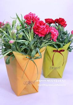 Упаковка для цветов своими руками