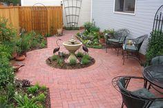 Brick Patio Small Patios Diy Backyard