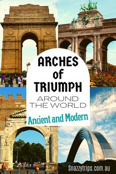 The World's Love Of Triumphal Arches 5 Australia Fun Facts, Travel Around The World, Around The Worlds, Arch Of Titus, Arch Of Constantine, Cultural Experience, Adventure Activities, Culture Travel, Australia Travel