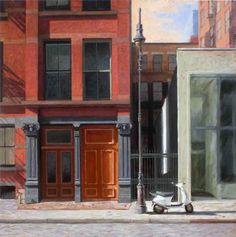 "Oil on canvas, 30""x30"" by artist Paul Schulenburg"