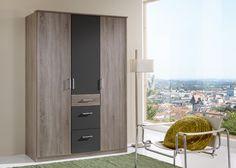 Kleiderschrank Click 135,0 Eiche mit Lava 10377. Buy now at https://www.moebel-wohnbar.de/kleiderschrank-click-135-0-eiche-mit-lava-10377.html