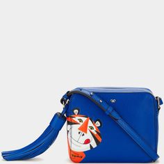 d9ad25fd64 Frosties Cross-Body Day Bag, Season Colors, Anya Hindmarch, Electric Blue,