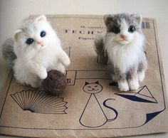9784056060720 wool felt animals-japanese needle felting book by feltcafe, via Flickr