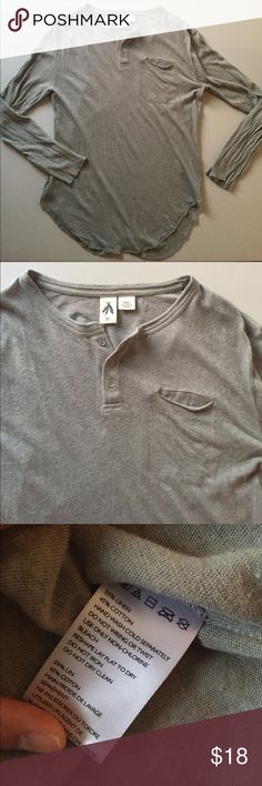 Long Sleeve Pocket Shirt Men's shirt • From Urban Outfitters • Only worn once, perfect condition • super soft linen cotton material • Urban Outfitters Shirts Tees - Long Sleeve