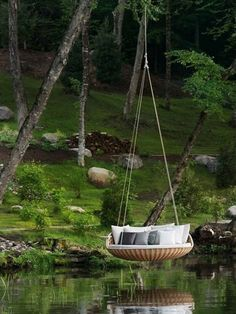 In a hanging bed in the forest. | 44 Amazing Places You Wish You Could Nap Right Now