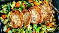 Koteletter og grønnsaker i ovn One Pot Wonders, Pork Loin, Turkey, Meat, Food Food, Pork Fillet, Turkey Country, One Pot Meals, One Pot Recipes