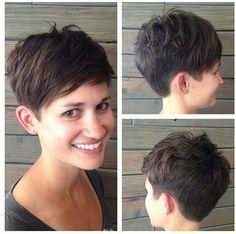18.Short taglio di capelli con la frangetta