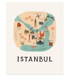 Istanbul Print at rifle paper co.