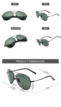 0e1ee4d897 CHB Premium Military style Classic Aviator Polarized Sunglasses for Men  UV400    Check out the