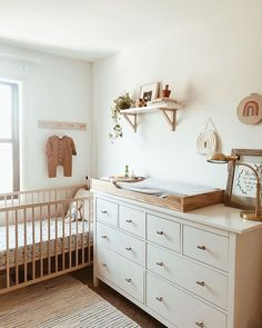 Sara J on I dont always have a clean room but when I do, I still have a pile of unfolded laundry on the bed Baby Room Boy, Baby Bedroom, Girl Room, Ikea Baby Room, Baby Room Neutral, Nursery Neutral, Neutral Nurseries, Baby Nursery Decor, Baby Decor