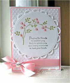 Simple Sympathy Card I actually like this for any feminine card. Just change the greeting!