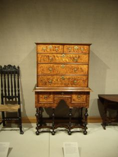 American William and Mary Highboy