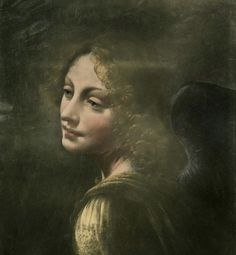 Leonardo da Vinci:  Head of an Angel (Detail)