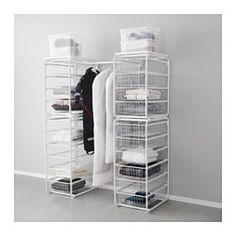 ALGOT Frame/wire baskets/rod, white - IKEA