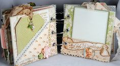 Killam Creative: Graphic 45 Little Darlings Mini Album by roxanne Scrapbook Journal, Mini Scrapbook Albums, Scrapbook Paper Crafts, Journal Cards, Scrapbook Cards, Paper Crafting, Junk Journal, Scrapbooking Ideas, Scrapbook Layouts